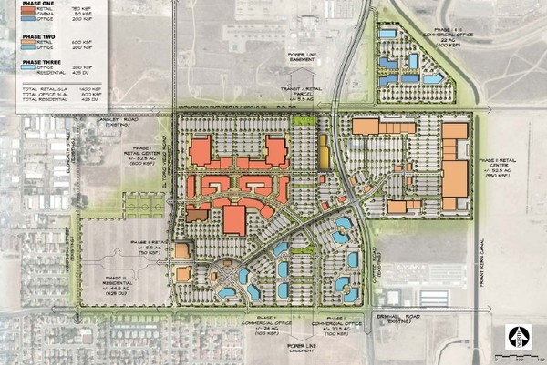 Bakersfield Commons Conceptual Site Plan Map
