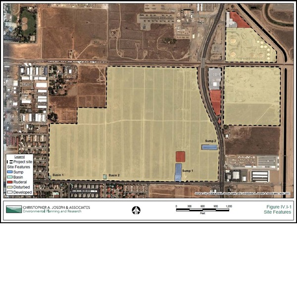 Bakersfield Commons Site Existing Conditions Map