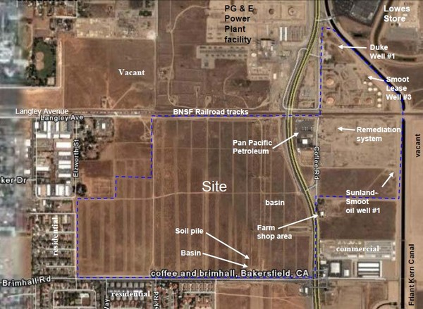 Bakersfield Commons Site Features Map