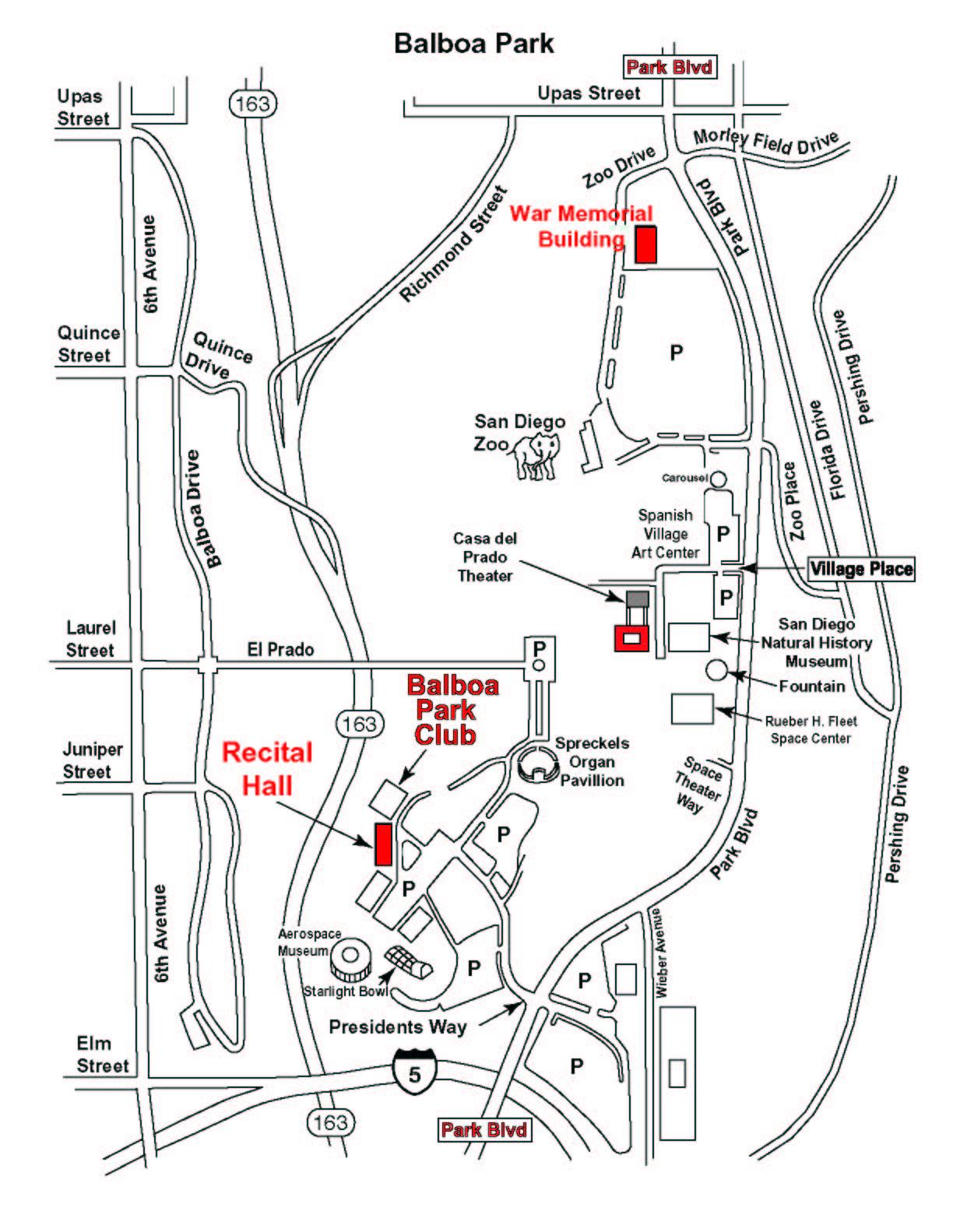 Balboa Park Tourist Map Balboa Park San Diego mappery