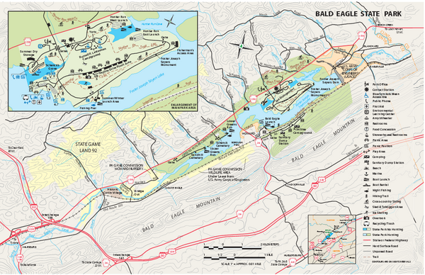 Bald Eagle State Park map