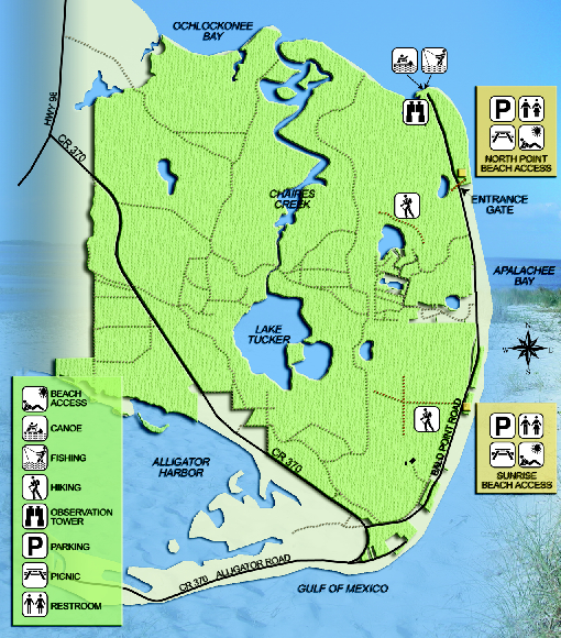 Bald Point State Park Map