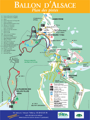 Ballon d'Alsace Ski Trail Map