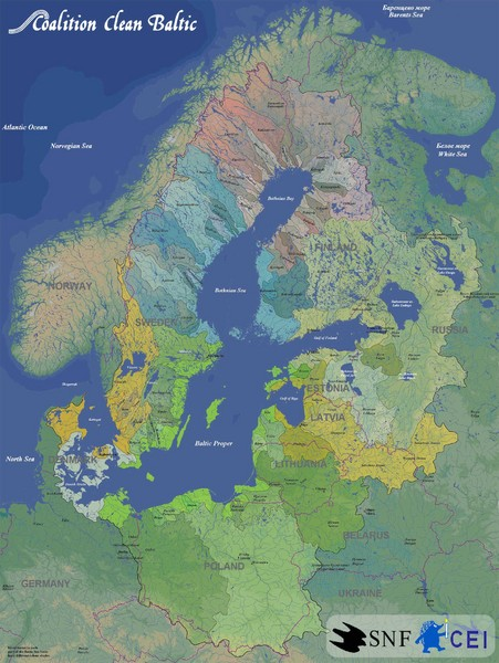 Real life map collection mappery baltic sea river basins map sciox Image collections