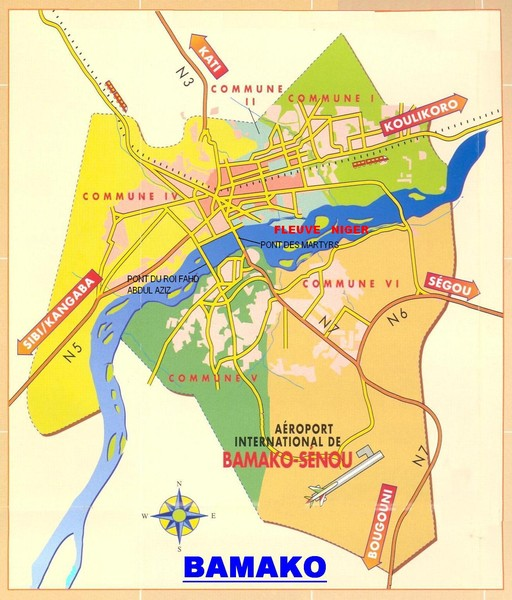 Bamako Map bamako mali • mappery