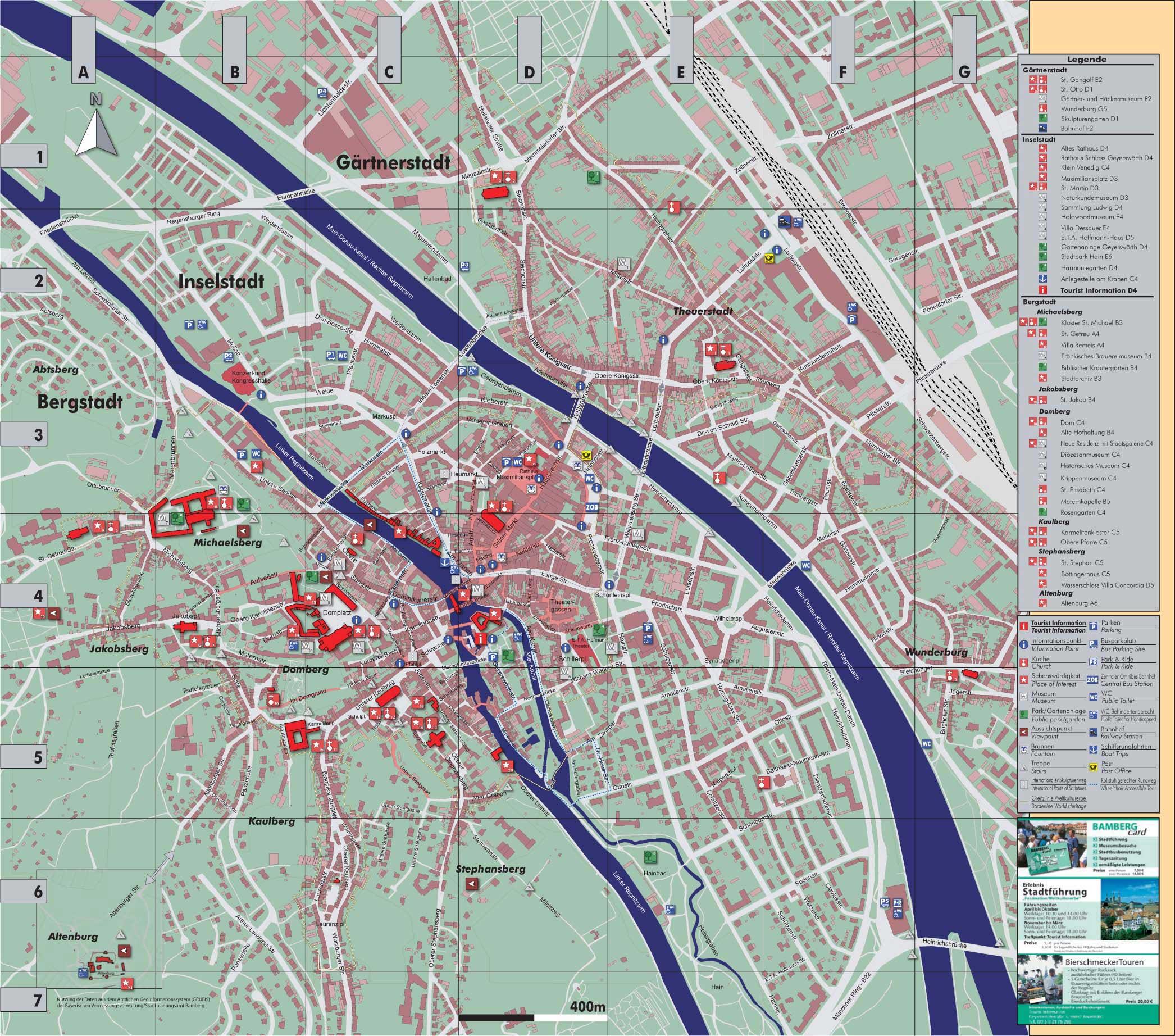 bamberg city map bamberg germany mappery