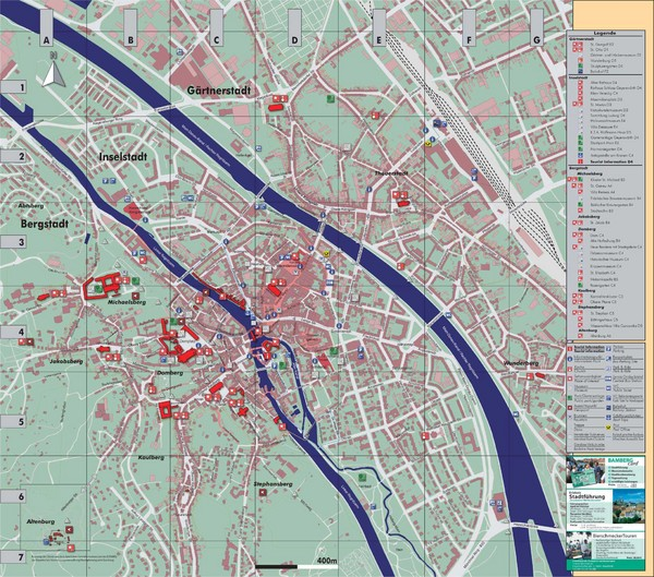 City map of Bamberg, Germany. From artist-embedded.org