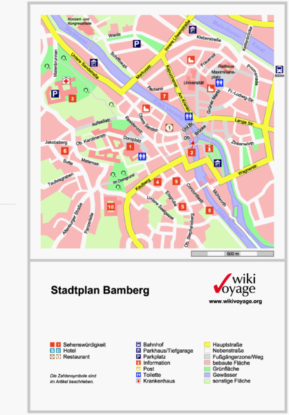 View LocationView Map. click for. Fullsize Bamberg Tourist Map