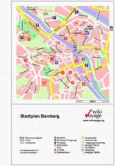 Bamberg Tourist Map