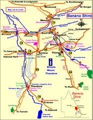 Banana Shire Tourist Map