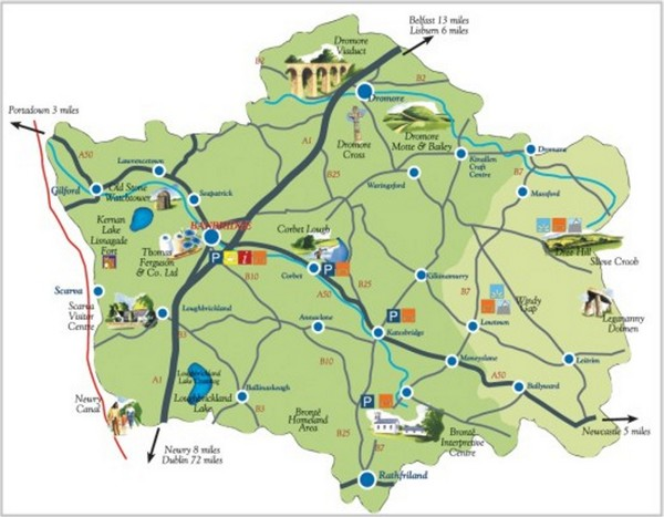Banbridge District Tourism Map Banbridge Northern Ireland UK – Ireland Tourist Attractions Map