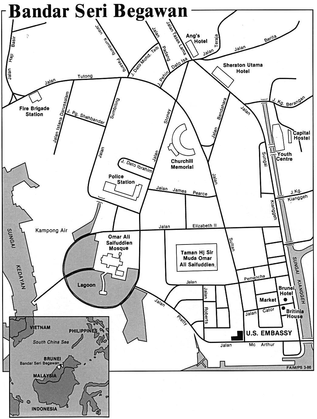 Bandar Seri Begawan city Map mappery