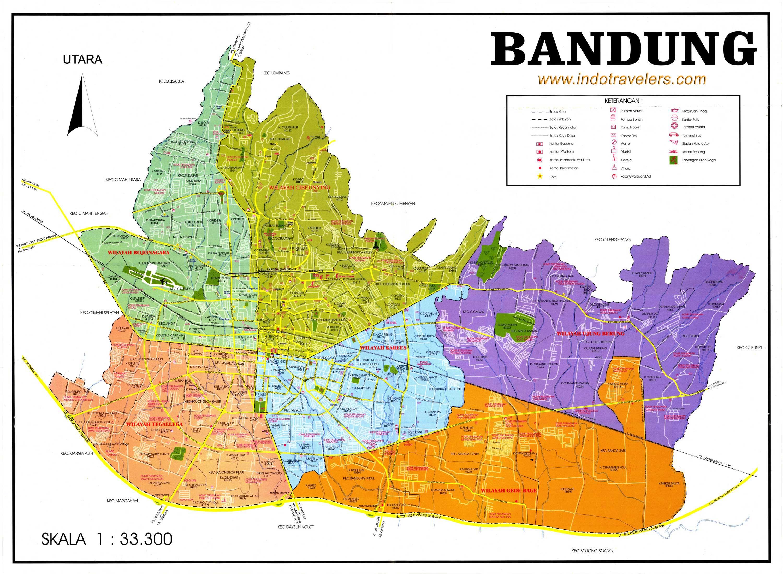 Bandung City Map Bandung Indonesia Mappery