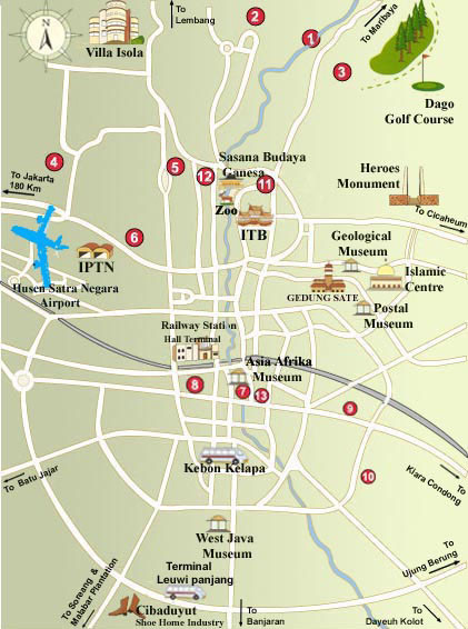 Bandung tourist map bandung indonesia mappery fullsize bandung tourist map sciox Choice Image