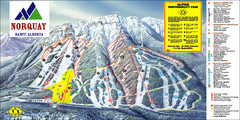 Banff Mount Norquay Ski Trail Map