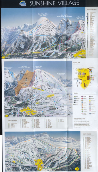 Banff's Sunshine Village Ski Trail Map