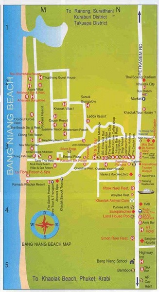 Bang Niang Beach Map
