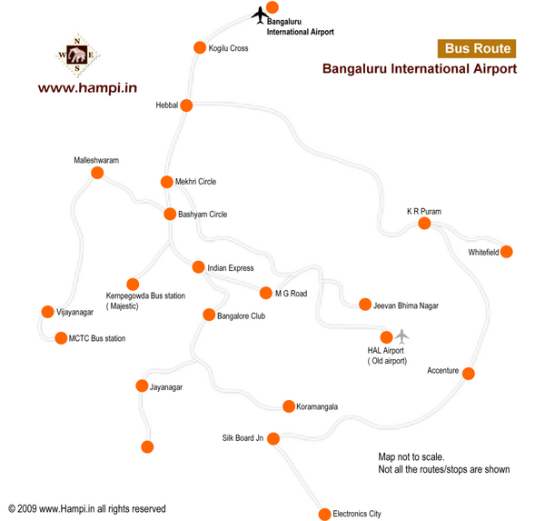 Bangalore Airport Map
