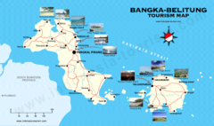 Bangka-Belitung Tourist Map