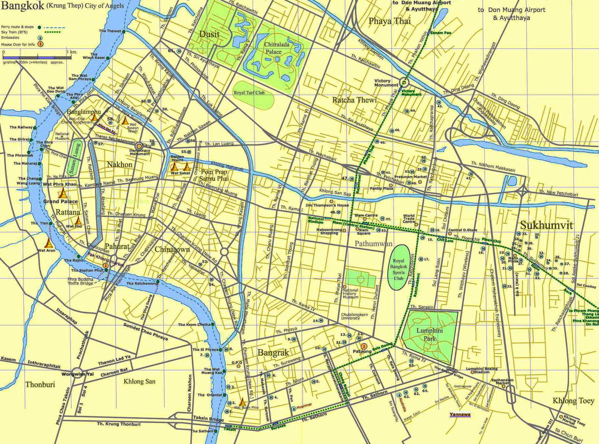Bangkok City Tourist Map - bangkok • mappery Bangkok Map