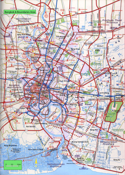 Bangkok City Tourist Map