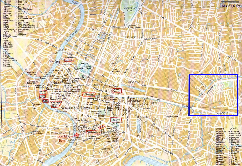 City maps Stadskartor och turistkartor Thailand USA Travel Portal