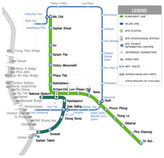 Bangkok Skytrain Route Map