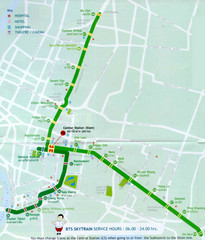 Bangkok Skytram Map