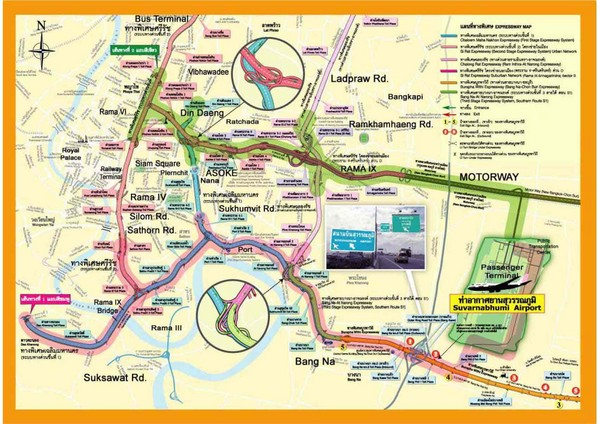 Real life map collection mappery bangkok suvarnabhumi expressway map sciox Gallery