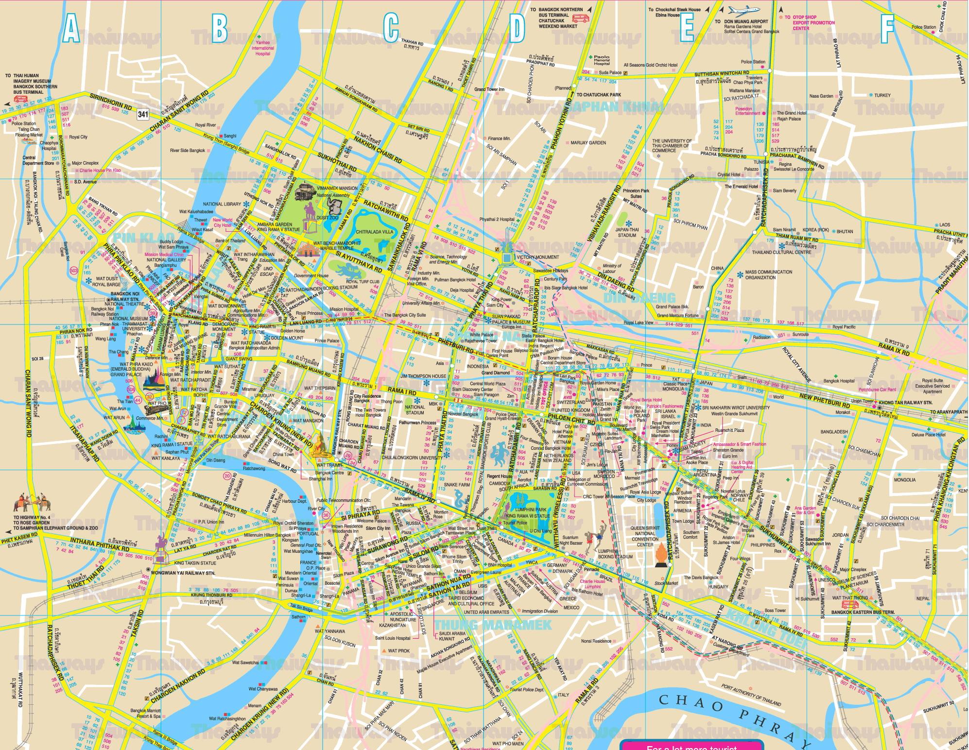 Bangkok Thailand Map - Bangkok Thailand • mappery