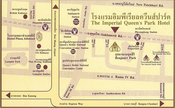 Bangkok Tourist Map