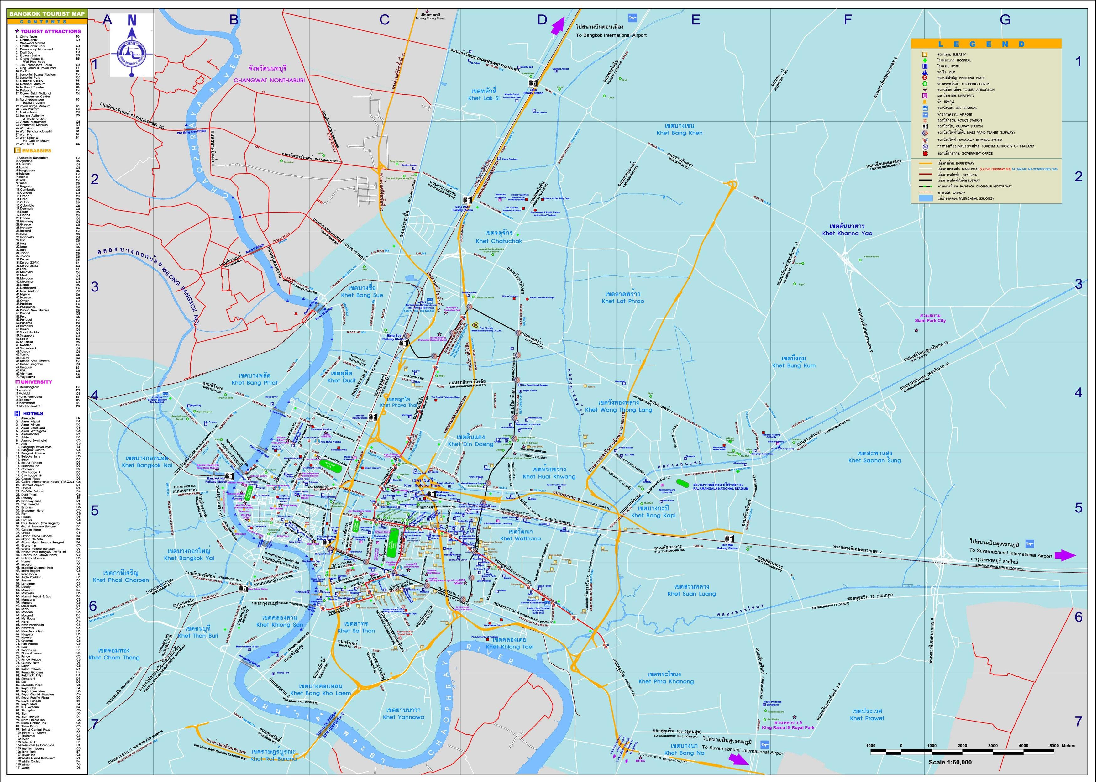 Bangkok Tourist Map - Bangkok Thailand • mappery