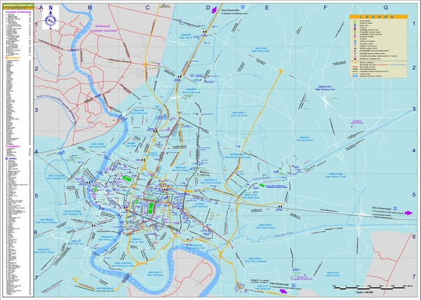 Bangkok Tourist Map Bangkok Thailand mappery – Bangkok Tourist Attractions Map