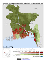 Bangladesh 5m LECZ and Population Density Map