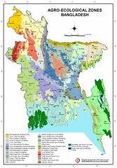 Bangladesh Agro Ecological zones Map