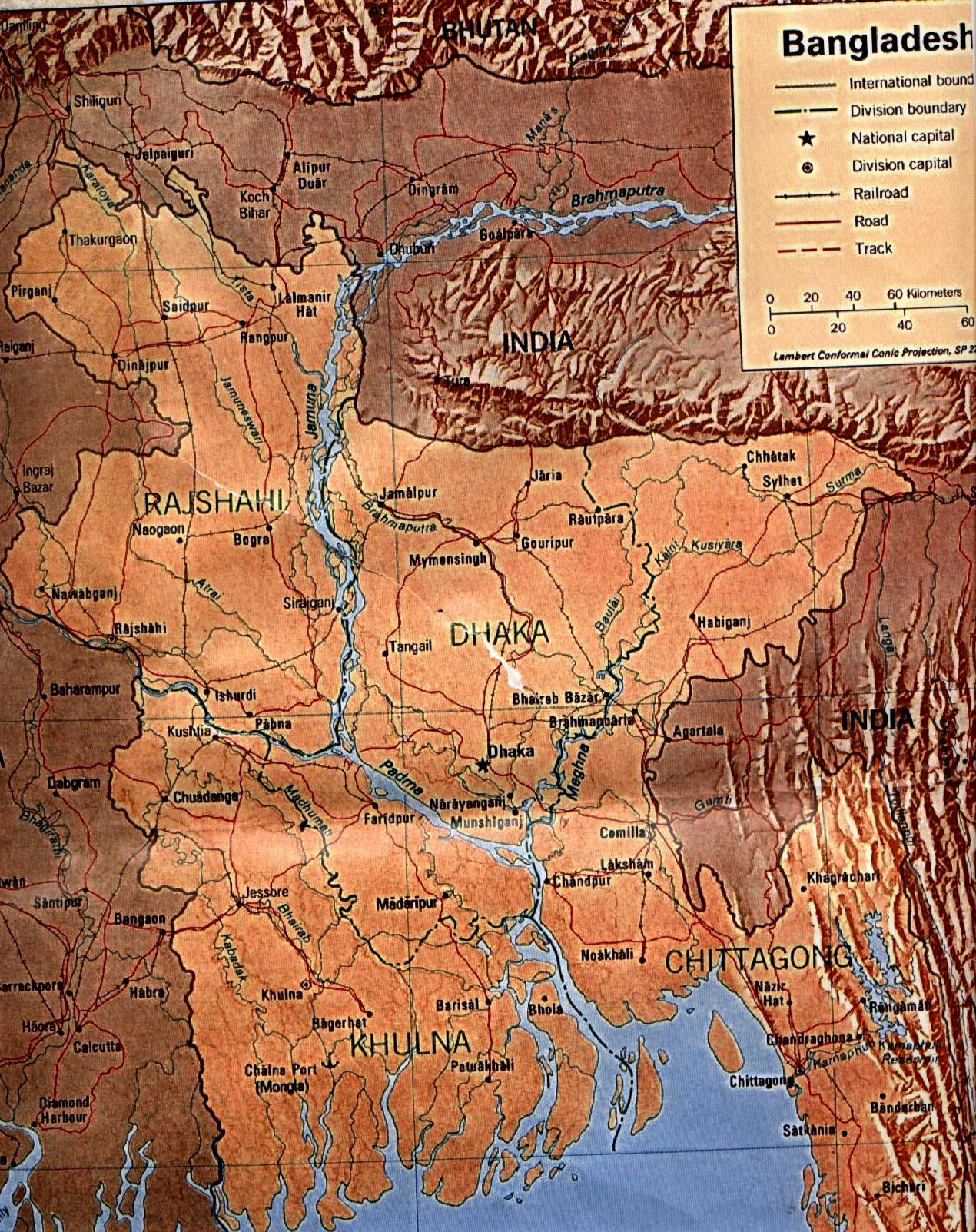 Bangladesh Map Bangladesh Mappery