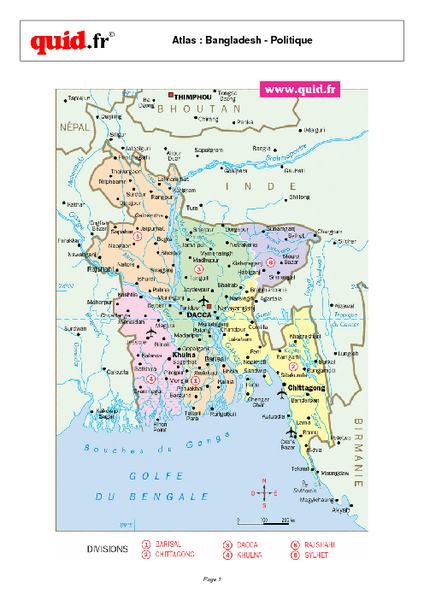 Bangladesh Regional Map