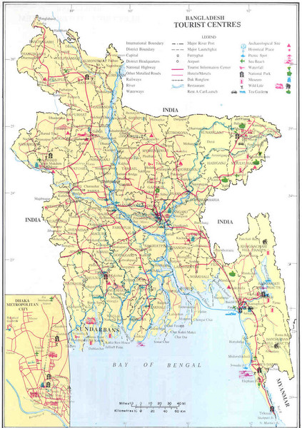Bangladesh Tourist Center Map