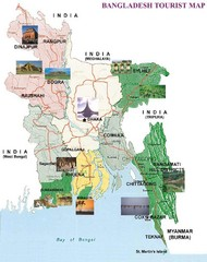 Bangladesh Tourist Map