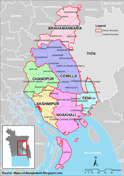 Bangladesh district Map • mappery