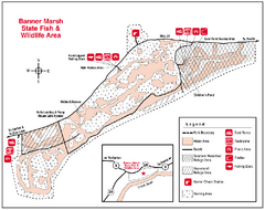 Banner Marsh, Illinois Site Map