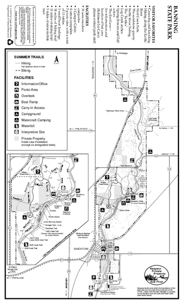 Banning State Park Summer Map