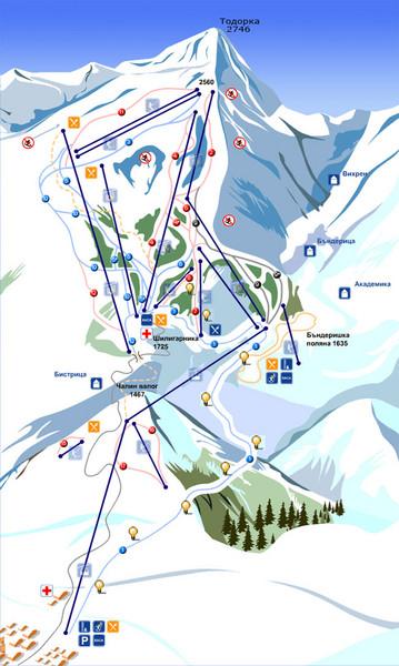 Bansko Ski Map Bansko Mappery