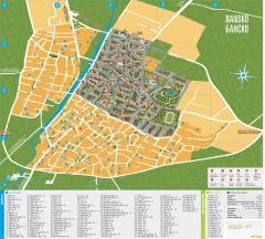 Bansko Tourist Map