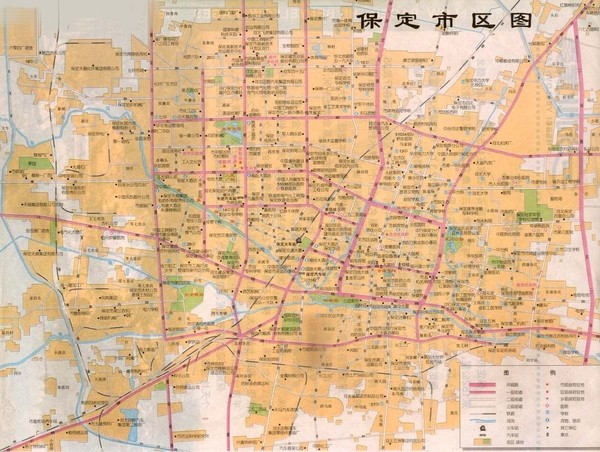 Baoding Tourist Map