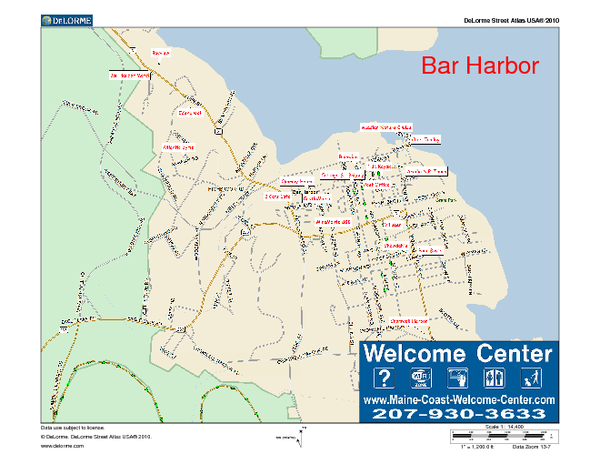 Bar Harbor Maine Us Map Bar Harbor Me Mappery - Maine us map