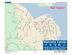 Bar Harbor, Maine, Us Map