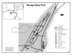 Baraga State Park, Michigan Site Map