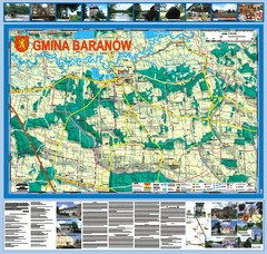 Baranow count wall map, PL Map