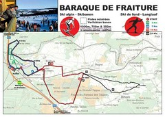 Baraque de Fraiture and Nordic Ski Trail Map